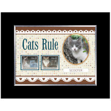 Cats Rule Personalized Photo Frame