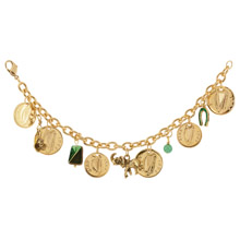 Gold Layered Irish Coin Charm Bracelet