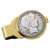 Silver Barber Half Dollar Goldtone Money Clip