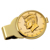 Gold-Layered JFK Half Dollar Goldtone Money Clip