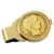 Gold-Layered Silver Barber Half Dollar Goldtone Money Clip