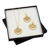 Angel Coin Crystal Gold Tone Earrings and Pendant Boxed Gift Set