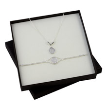 Silver Mercury Dime Sterling Silver Pendant and Bracelet Boxed Gift Set