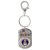 Land of the Free Quarter Keychain Air Force