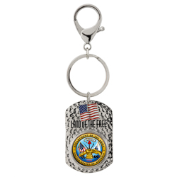 Land of the Free Quarter Keychain Army