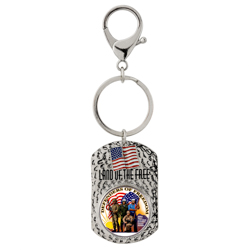 Land of the Free Quarter Keychain Defenders of Freedom