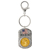 Land of the Free Gold Layered Bicentennial Quarter Keychain