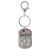 Land of the Free Silver Standing Liberty Quarter Keychain
