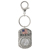Land of the Free Silver Barber Quarter Keychain