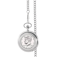 Proof JFK Half Dollar Pocket Watch