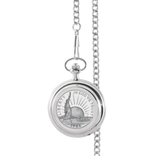 Statue of Liberty Commemorative Half Dollar Pocket Watch