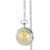 Gold-Layered Silver Walking Liberty Half Dollar Pocket Watch