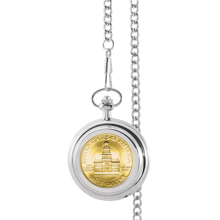 Gold-Layered JFK Bicentennial Half Dollar Pocket Watch