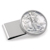 Silver Walking Liberty Half Dollar Stainless Steel Silvertone Money Clip