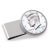 Proof JFK Half Dollar Stainless Steel Silvertone Money Clip