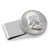 Silver Franklin Half Dollar Stainless Steel Silvertone Money Clip