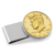Gold-Layered JFK Half Dollar Stainless Steel Silvertone Money Clip