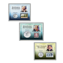 Presidential Bicentennial Coin and  Stamp Collections