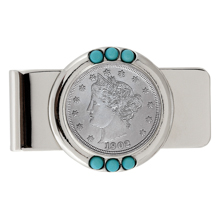 Liberty Nickel Turquoise Money Clip