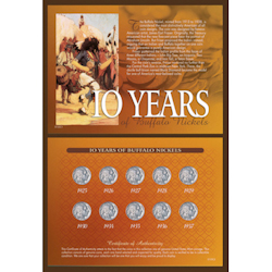 10 Years of Buffalo Nickels