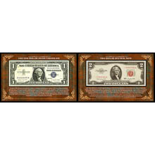 Scarce Currency - 1957 $1 Silver Certificate and $2 Red Seal Note
