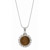 Sterling Silver Ribbon Style Pendant with Genuine Indian Penny