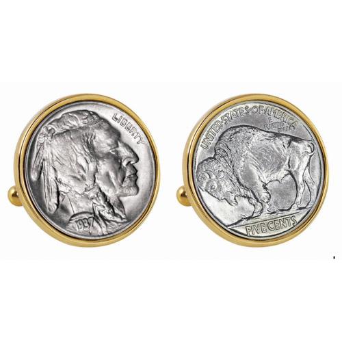 American Coin Treasures University of Nebraska 1869 Sterling Silver Nickel Cuff Links