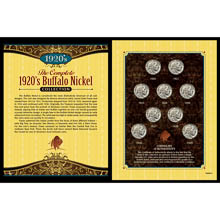 Complete 1920's Buffalo Nickel Collection