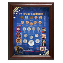 My First Coin Collection Framed