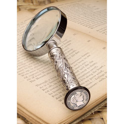 Silver Barber Dime Magnifying Glass