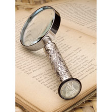 Silver Seated Liberty Dime Magnifying Glass