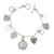 Heart Charm Sterling Silver Bracelet with Silver Seated Liberty Dime