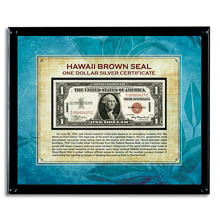 Hawaii Brown Seal Note in Acrylic Frame