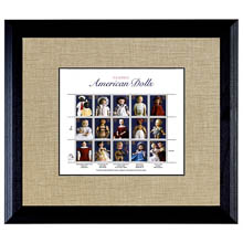 American Dolls Stamp Sheet in 16 x 14 Wood Frame