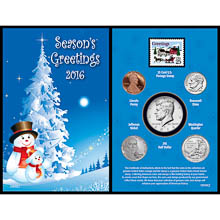 2016 Snowman Greeting Card Coin Collection