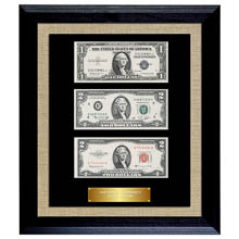 Historic Currency Collection in Currency Frame