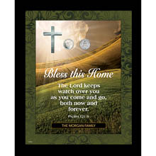 Personalized Bless This Home Frame with Vatican Pope Coin