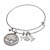 Western Charm Silver Tone Dateless Buffalo Nickel Reverse Coin Bangle Bracelet