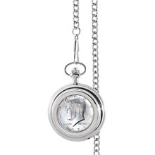 Monogrammed JFK Half Dollar Pocket Watch