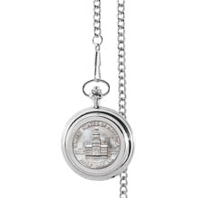 Monogrammed JFK Bicentennial Half Dollar Pocket Watch