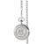 Monogrammed Silver Seated Liberty Half Dollar Pocket Watch