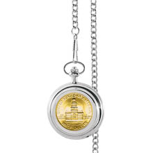 Monogrammed Gold-Layered JFK Bicentennial Half Dollar Pocket Watch