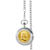 Monogrammed Gold-Layered Silver Franklin Half Dollar Pocket Watch