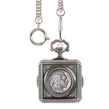 Monogrammed Buffalo Nickel Pocket Watch