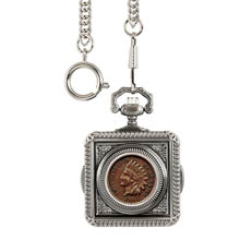 Monogrammed Indian Penny Pocket Watch