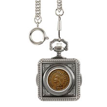 Monogrammed 1800's Indian Penny Pocket Watch
