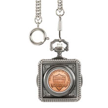 Monogrammed Lincoln Union Shield Penny Pocket Watch