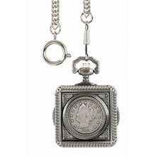 Monogrammed Liberty Nickel Pocket Watch