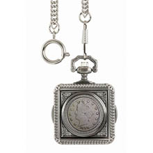 Monogrammed 1800's Liberty Nickel Pocket Watch