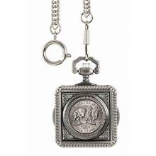 Monogrammed Westward Journey Bison Nickel Pocket Watch